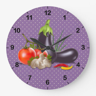 Delicious Vegetables Wall Clock