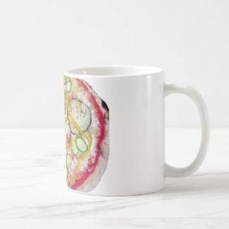 Delicious vegetarian pizza coffee mug