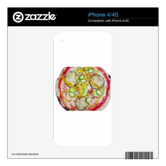 Delicious vegetarian pizza decals for iPhone 4S