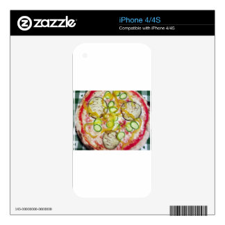 Delicious vegetarian pizza iPhone 4S decals
