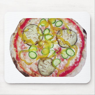 Delicious vegetarian pizza mouse pad