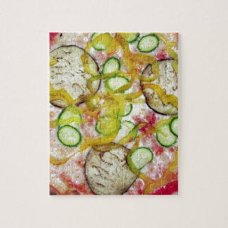 Delicious vegetarian pizza jigsaw puzzles