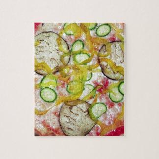 Delicious vegetarian pizza puzzle