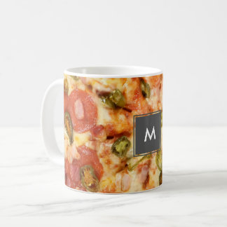 delicious whole pizza pepperoni jalapeno photo coffee mug