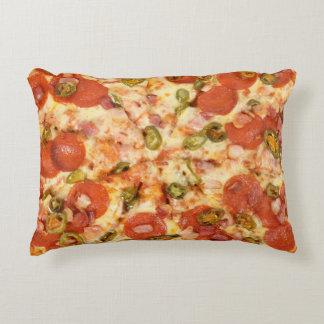delicious whole pizza pepperoni jalapeno photo decorative pillow