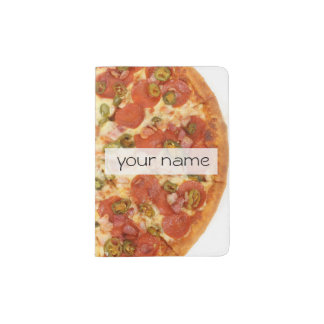 delicious whole pizza pepperoni jalapeno photo passport holder