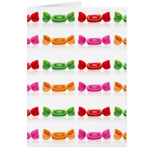 DELICIOUS WRAPPED CANDY VECTORS GRAPHICS GREEN RED CARDS