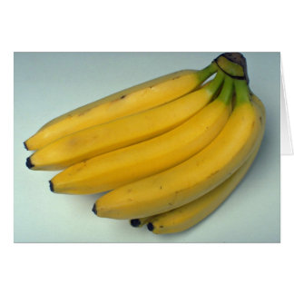 Delicious Yellow bananas Card