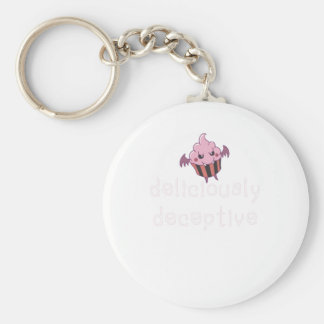 deliciously deceptive basic round button keychain