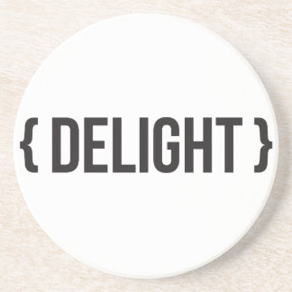 Delight - Bracketed - Black and White Coasters