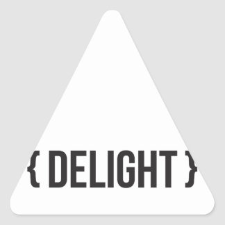 Delight - Bracketed - Black and White Triangle Sticker