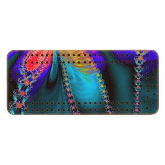 Delight Funky Floral Cherry Cribbage Board