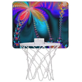 Delight Funky Floral Mini Basketball Backboards