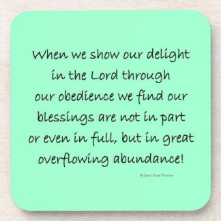 delight in the Lord Coaster