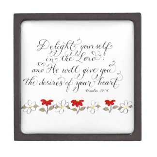 Delight in the Lord inspiration verse typography Gift Box