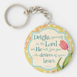 Delight in the Lord Keychain