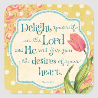Delight in the Lord Stickers