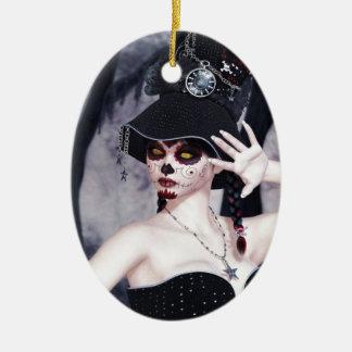 Delight_Scary.jpg Ceramic Ornament