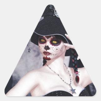 Delight_Scary.jpg Triangle Sticker