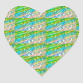 DELIGHT Sparkle Green Dream Ideal GIFTS FUN Heart Sticker