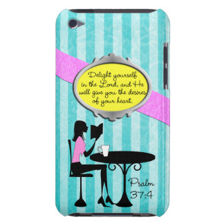 Delight Yourself in the Lord Psalm 37:4 Bible Teal iPod Touch Cover