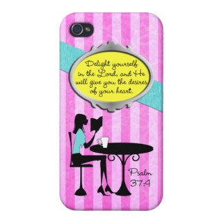 Delight Yourself in the Lord Psalm 37:4 Christian iPhone 4 Case