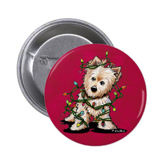 DeLighted Terrier Dog Pinback Button