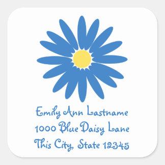 Delightful Blue Daisy Square Sticker