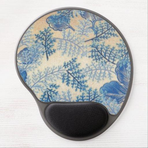 Delightful Blue Leaves Gel Mouse Mats