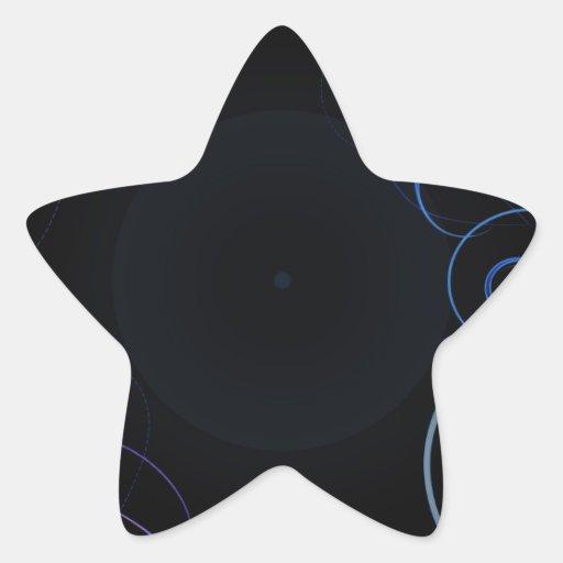 Delightful bluish swirls special gift star stickers