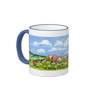 Delightful Bunny Rabbits Watching the Clouds Mug