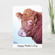 Delightful Cow UK Mother's Day card