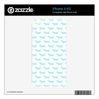 Delightful Dachshunds iPhone 4S Decals