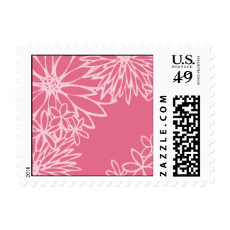 Delightful Daises Rose Postage Stamps