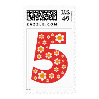 Delightful Daisies 5th Birthday Postage