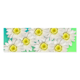 Delightful Daisies Gift Tag Double-Sided Mini Business Cards (Pack Of 20)