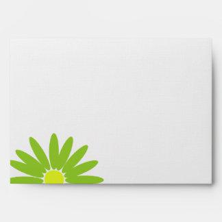 Delightful Daisies Green Envelope
