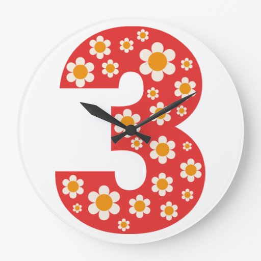 Delightful Daisies Number 3 Wall Clock