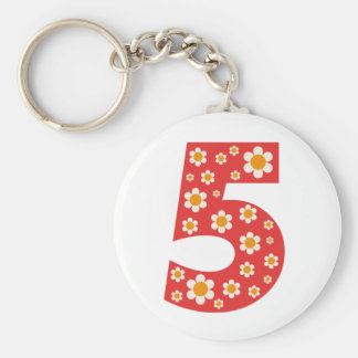 Delightful Daisies Number 5 Keychain