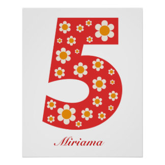 Delightful Daisies Number 5 Poster