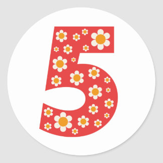 Delightful Daisies Number 5 Stickers