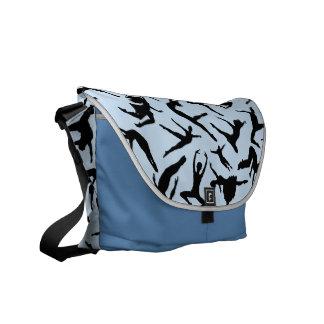 Delightful Dancers Blue Messenger Bag