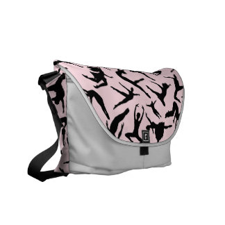Delightful Dancers Pink Messenger Bag