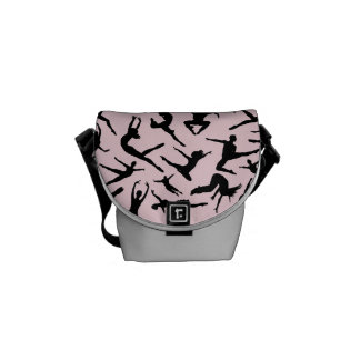 Delightful Dancers Pink Mini Messenger Bag
