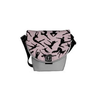 Delightful Dancers Pink Mini Messenger Bag