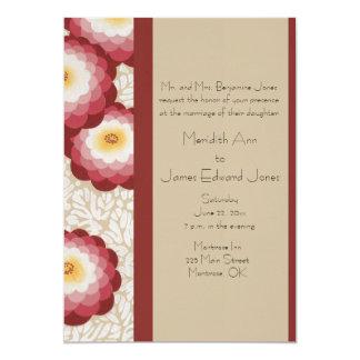 "Delightful Deco Mums Wedding Invitations 5"" X 7"" Invitation Card"