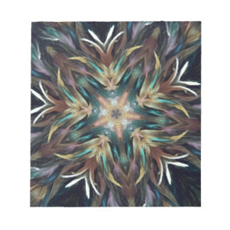 Delightful Delicate Feather Mandala Note Pads