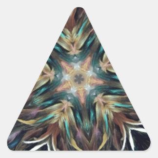 Delightful Delicate Feather Mandala Triangle Sticker