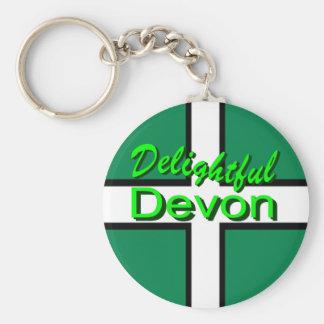 Delightful Devon Keychain