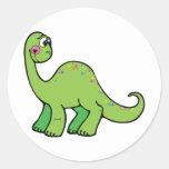 Delightful Dinosaur Round Sticker